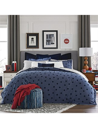 OLYMPIA DOT QUILT COVER SET SINGLE