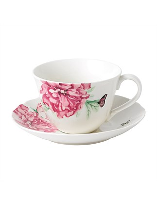 EVERYDAY FRIENDSHIP TEACUP & SAUCER WHITE