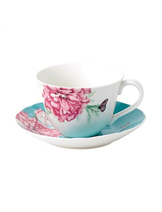EVERYDAY FRIENDSHIP TEACUP & SAUCER BLUE