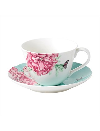 EVERYDAY FRIENDSHIP TEACUP & SAUCER GREEN