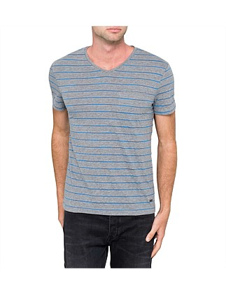 V neck stripe Tee