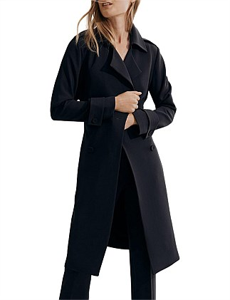 Button Trench Coat