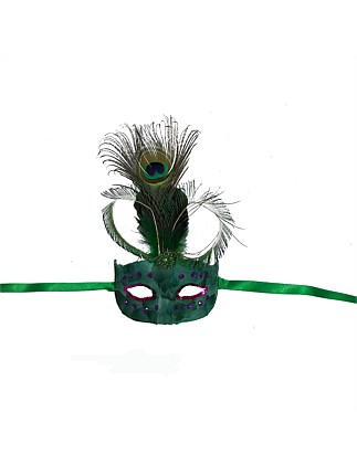 Ornament Plastic Feather Mask
