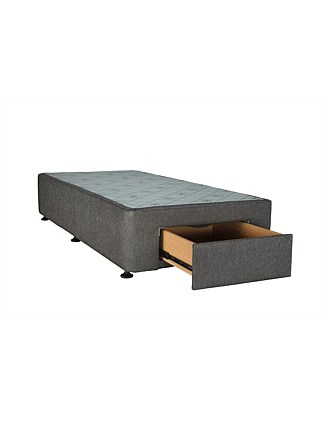 SPACESAVER CHARCOAL SPLIT Q BASE FRONT DRAWER