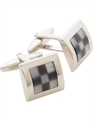 Blk/white cat's eye Cufflinks