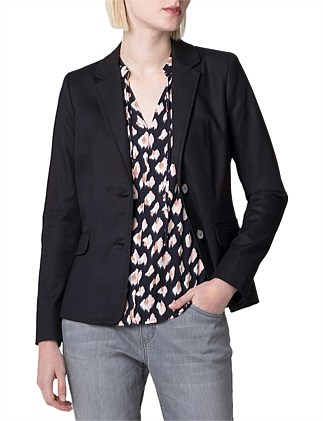 Cotton Notch Collar Blazer