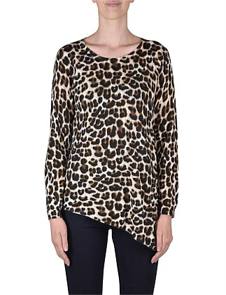 Long Sleeve Animal Print Pullover