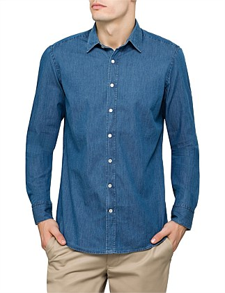 DOUBLE FACE HERRINGBONE SHIRT