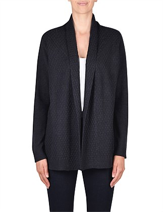 Long Sleeve Textured Edge to Edge Cardi