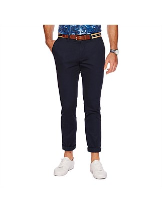 Flat Front Pant True Navy
