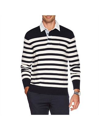 Long Sleeve Rugby Sweater True Navy