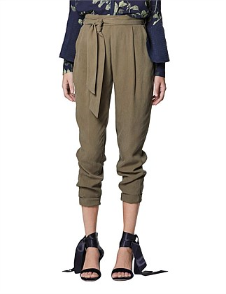 RELAXED TIE WAIST PANT