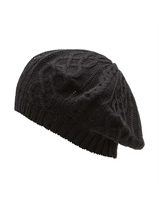 a30707ceb30 CABLE KNIT BERET Special Offer