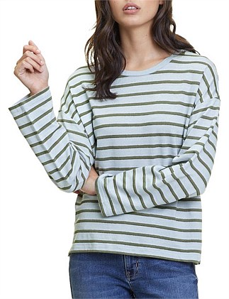 Metallic Stripe Long Sleeve T-Shirt