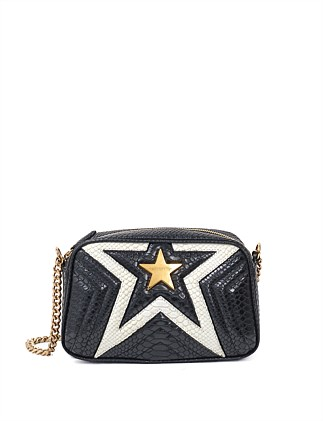 STELLA STAR SMALL SHOULDER BAG PYTHON PRINT