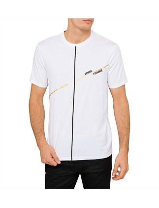 Graphic lines logo tee