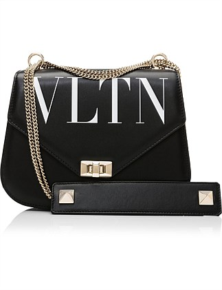 VLTN LEATHER SHOULDER BAG