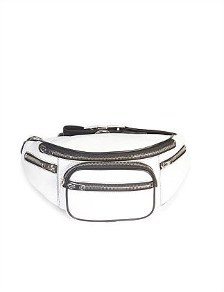 ATTICA SOFT FANNY PACK WHT SMOOTH LAMB/IR