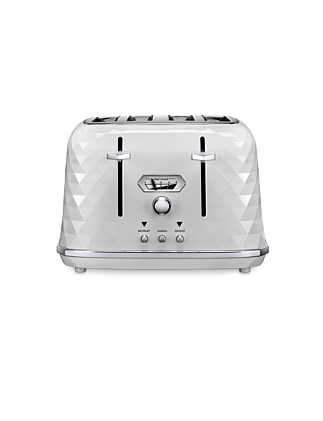 CTJX4003W Brillante Exclusive 4 Slice Toaster - White