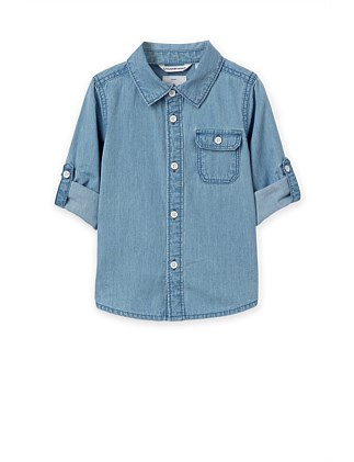 Chambray Shirt (Baby Boys 0-2)