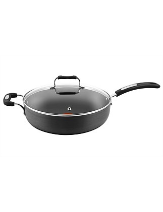 &Tefal Hard Anodised Specialty 30cm Saute Pan