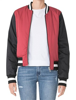 GISELLE COLOUR BLOCK BOMBER