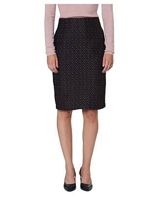 Orla Boucle Pencil Skirt