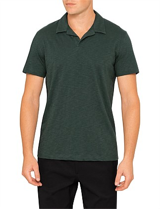 Willem Cosmos Slub Cotton Open Polo