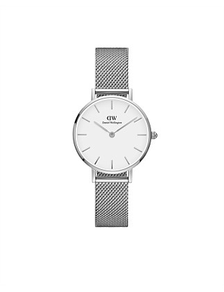 Classic Petite Sterling 28mm S White Dial Watch