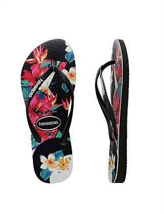 Kids Slim Floral Tropical Black