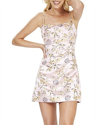 Pink Blossom Mini Dress