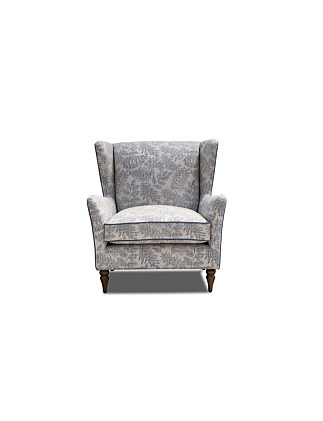 'Hadleigh' Wing Chair - Asher Denim