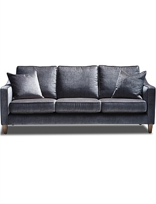 Hanley  3 Seater Sofa - Victory Storm Velvet 88ae3e8670