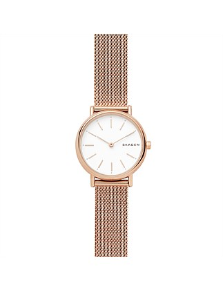 Signatur Slim Rose GoldSteel-Mesh Watch