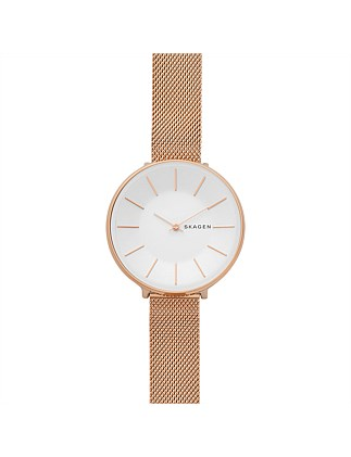 Karolina Rose Gold-Tone Steel-Mesh Watch