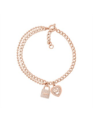 Love is in The Air Rose Gold Tone Chain Bracelet