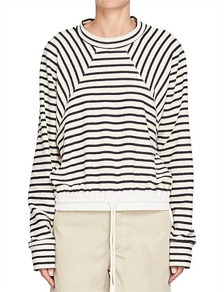 Canvas Detail Stripe Sweat