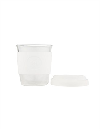SOL CUPS 235ML GLASS CLUP WHITE WAVE