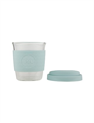 SOL CUPS 235ML GLASS CUP COOL CYAN