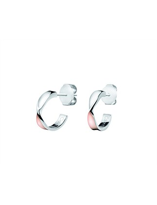 Open Earrings - Stainless Steel / Rose Gold PVD