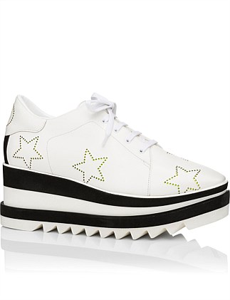 Elyse Sneaker With Perforated Star