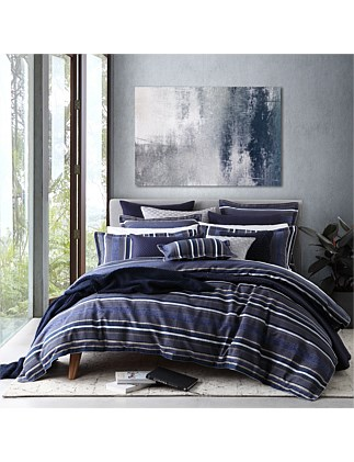 PIERSON NAVY QUILT COVER SET - QUEEN BED