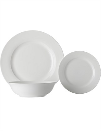 White Basics European Rim Dinner Set 12pc