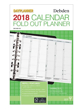 2018 Dayplanner Desk Monthly Pull Out