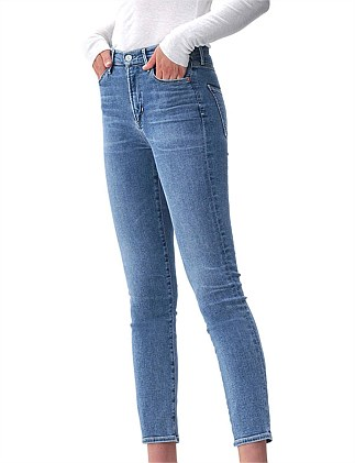 Cara Mid Rise Straight Jean