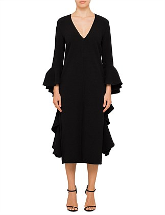 Reuben Frill Sleeve Dress