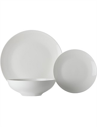 White Basics Tribeca Coupe Dinner Set 18pc