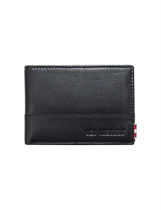 Centrefold Textured Wallet with ID Window and Coin Pouch