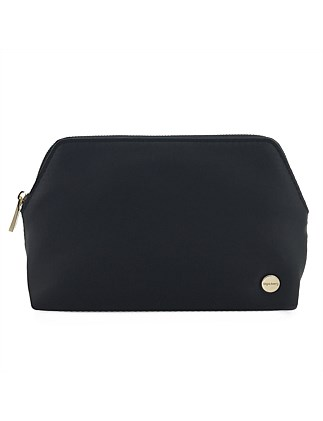 Large satin make up bag