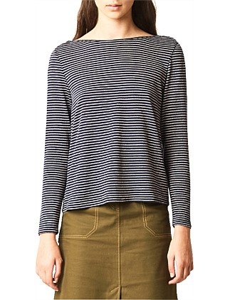Stripey knit top